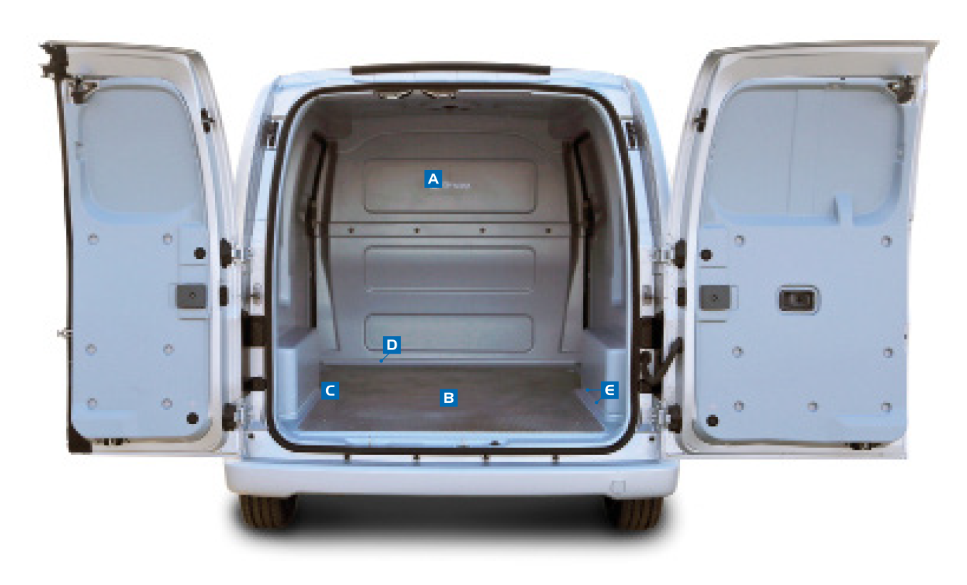 Certified smoke and smell free insert for Nissan NV200 - Gruau Vans